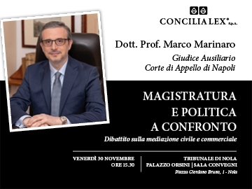 Magistratura e politica: al dibattito di Nola il Dott. Prof. Marco Marinaro