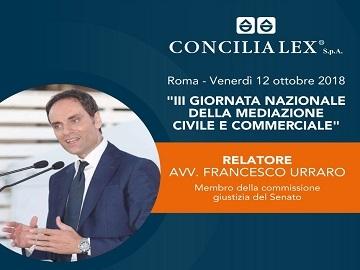 Alla III Giornata Nazionale della Mediazione Civile e Commerciale parteciperà il Sen. Avv. Francesco Urraro della Commissione Giustizia