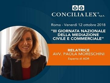 Avvocato Paola Moreschini, tra i maggiori esperti nazionali di ADR al The Church Palace per la III Giornata Nazionale della Mediazione Civile e Commerciale