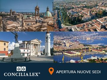 Continua a crescere il network di Concilia Lex S.p.A.: aperte quattro nuove sedi (La Spezia, Caltagirone, Castelfranco Veneto e Tombolo)