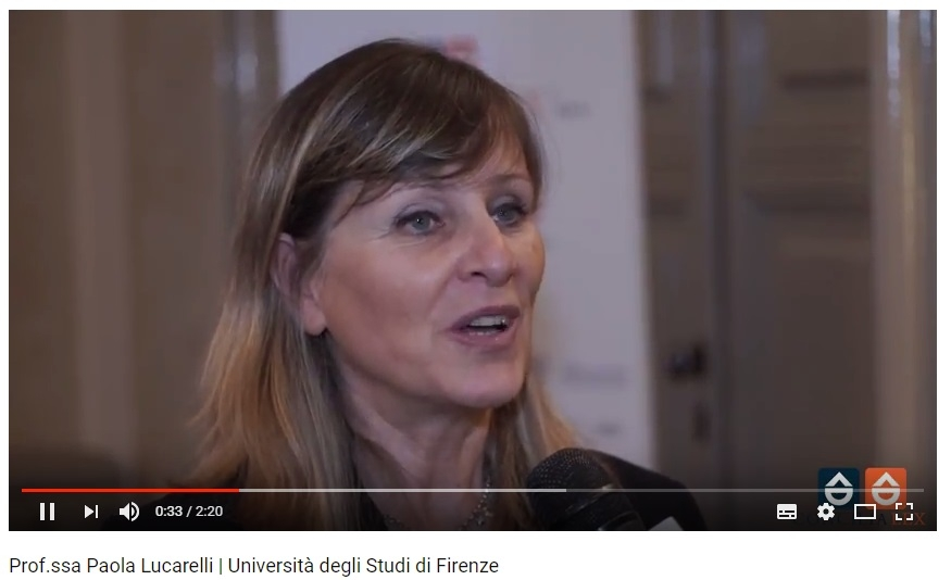 Prof. Paola Lucarelli convegno Firenze