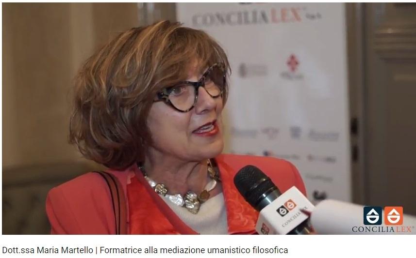 Prof. Maria Martello convegno di Firenze