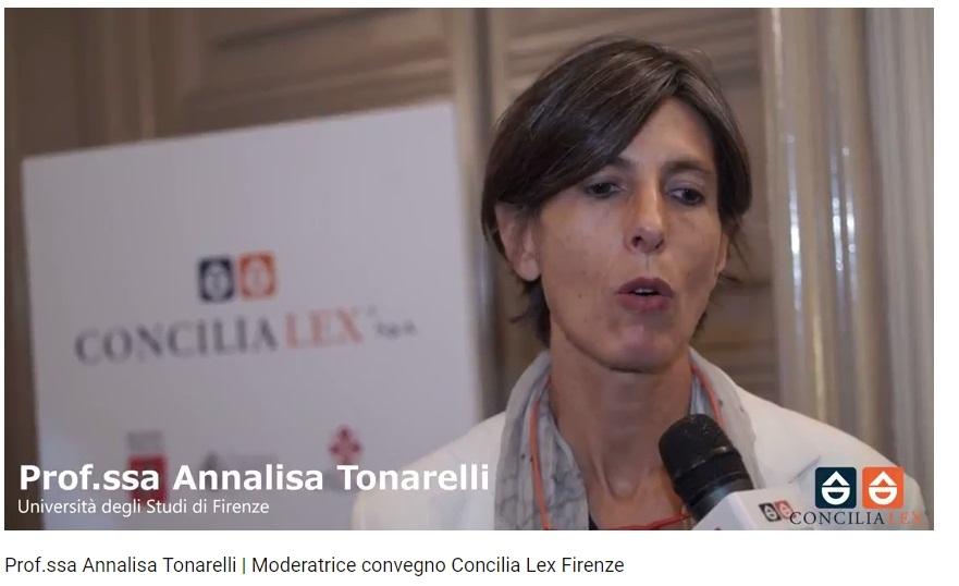 Prof. Annalisa Tonarelli convegno Firenze