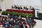 La sala con pubblico e relatori