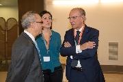 L'avvocato Cavallaro con Serena dello staff e il consigliere Manna