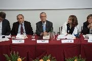 I relatori al tavolo del convegno